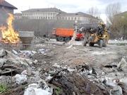 Уборка территории Киев. Уборка снега Киев.